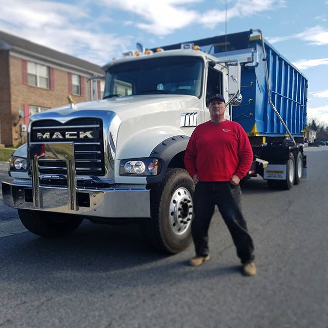Mike and his new 2018 #mack Call us at (302) 737 4030