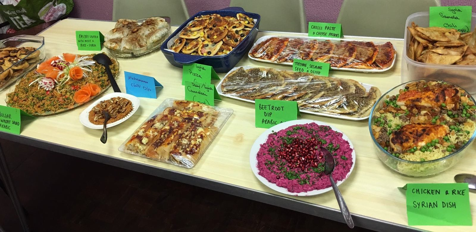 Selection of traditional Syrian cuisine