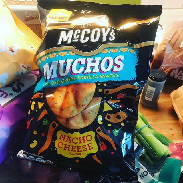 Why can't you have any of my #mccoys #muchos folded crispy tortilla snacks? Cos these are Nacho Cheese - that's why