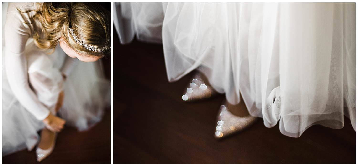 elegant-Bride-putting-on-her-shoes-in-Hudson-Hotel-New-York