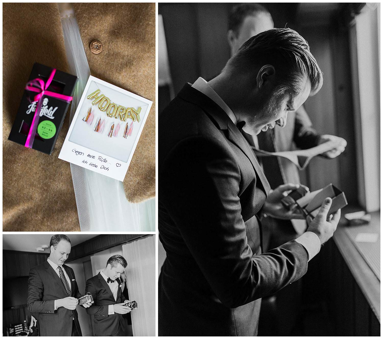 Groom-receives-a-present-from-the-bride