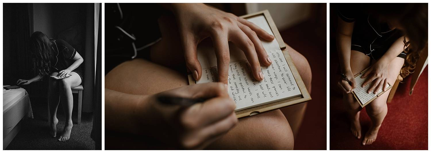 bride-writing-vows-for-her-elopement