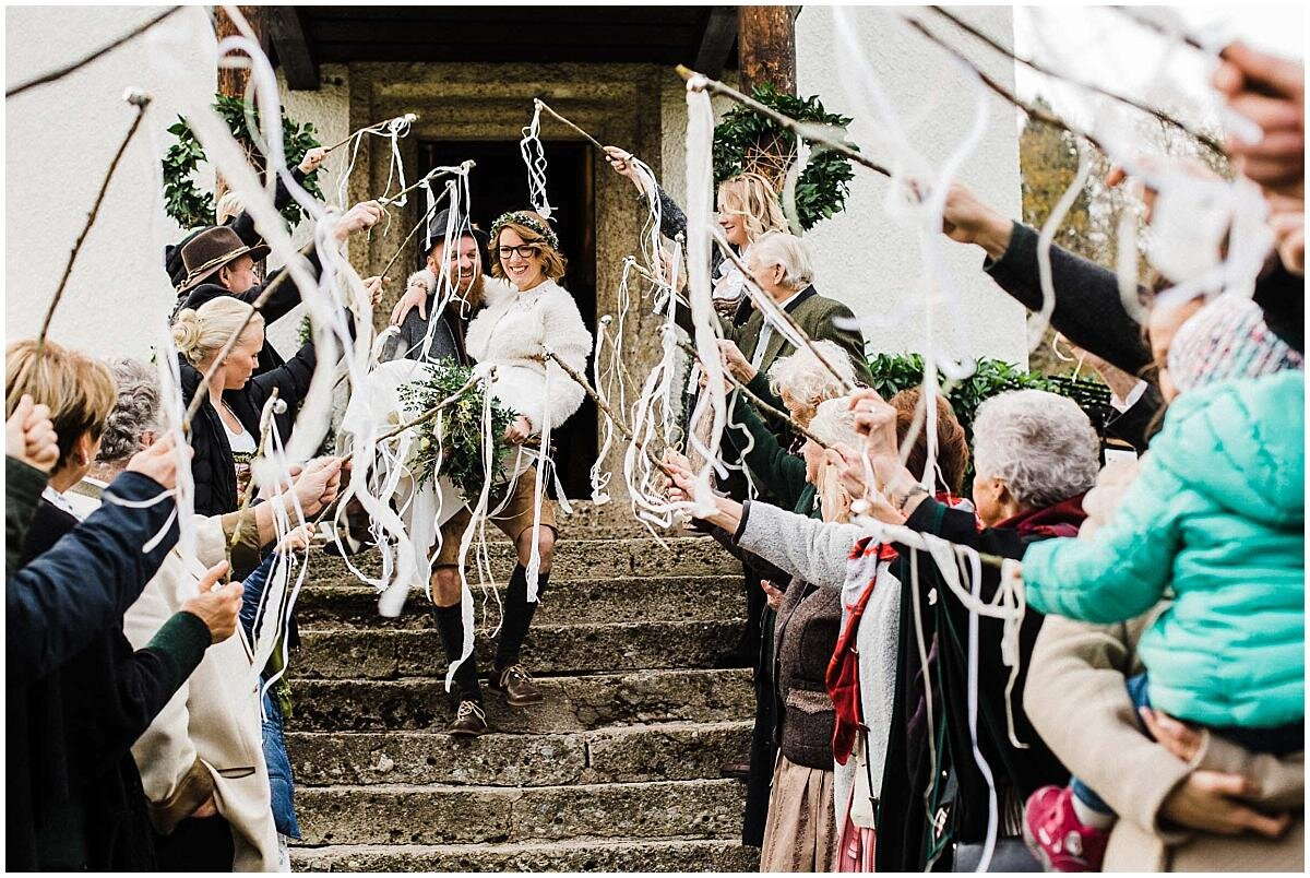wedding-exit-with-confetti-and-flags