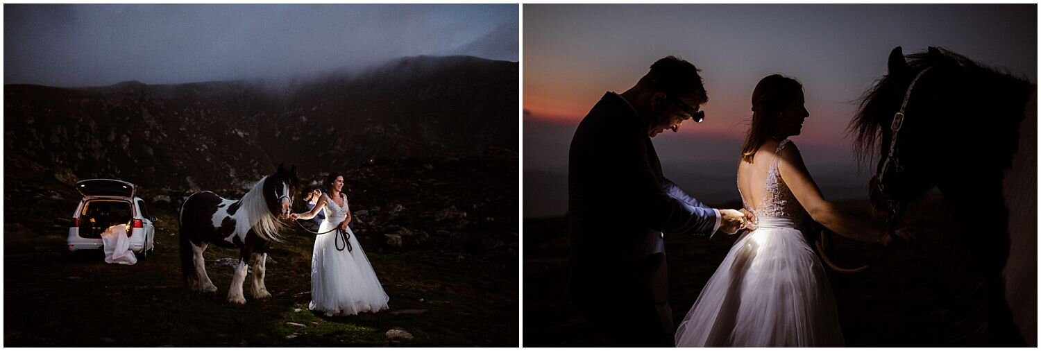 getting-ready-with-headlamps-for-a-sunrise-elopement