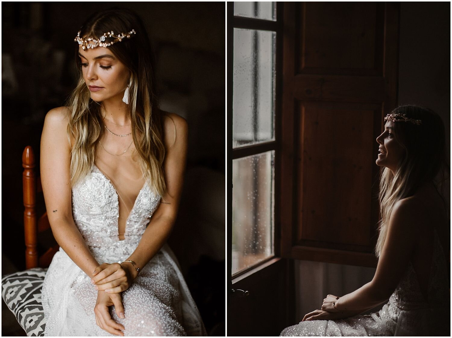 Boho-Bride-Mallorca-wearing-Rue-de-Seine-dress