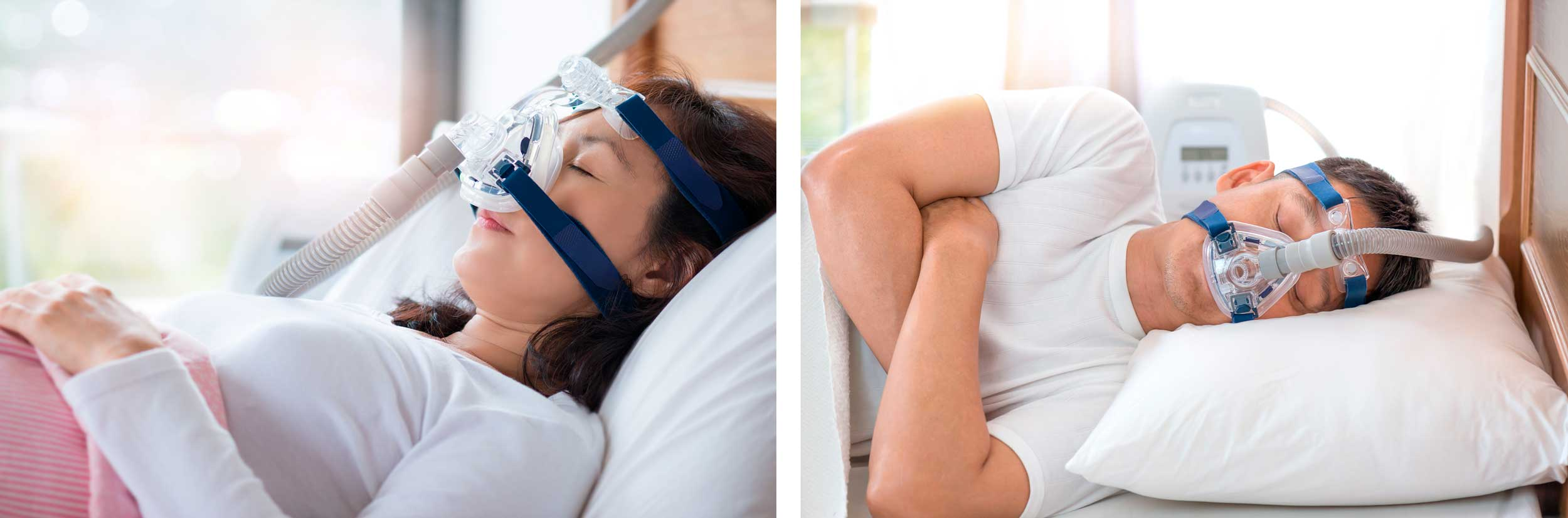 Figure 3: The CPAP therapy device.     The CPAP therapy device is a mask that forces air into your throat. Although it can be cumbersome it may be better suited than the above appliances for patients who suffer from T.M.D. (Problems related to the temporomandibular joint).