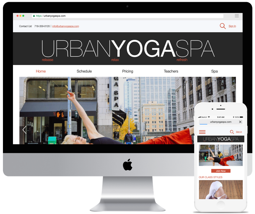 Concept Website Redesign - OverviewA concept redesign of a boutique yoga studio to improve overall layout and usability based on persona needs. Included integrating third party ecommerce software. The redesign allows site visitors to easily navigate service offerings and purchase yoga classes and spa treatments.DeliverablesTask analysis, user flows, wireframes, clickable prototype