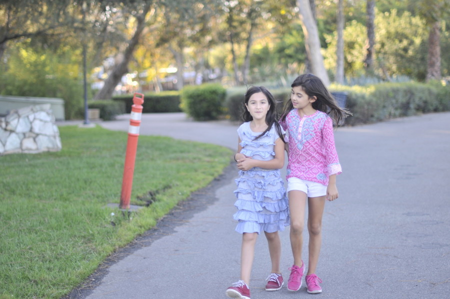 Another fun activity is simply taking a stroll around the park with a friend.