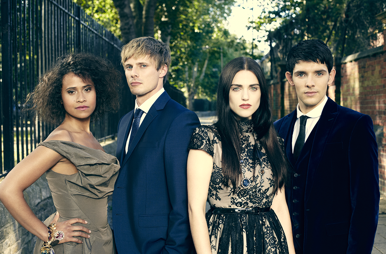 The cast of  Merlin , out of costume.