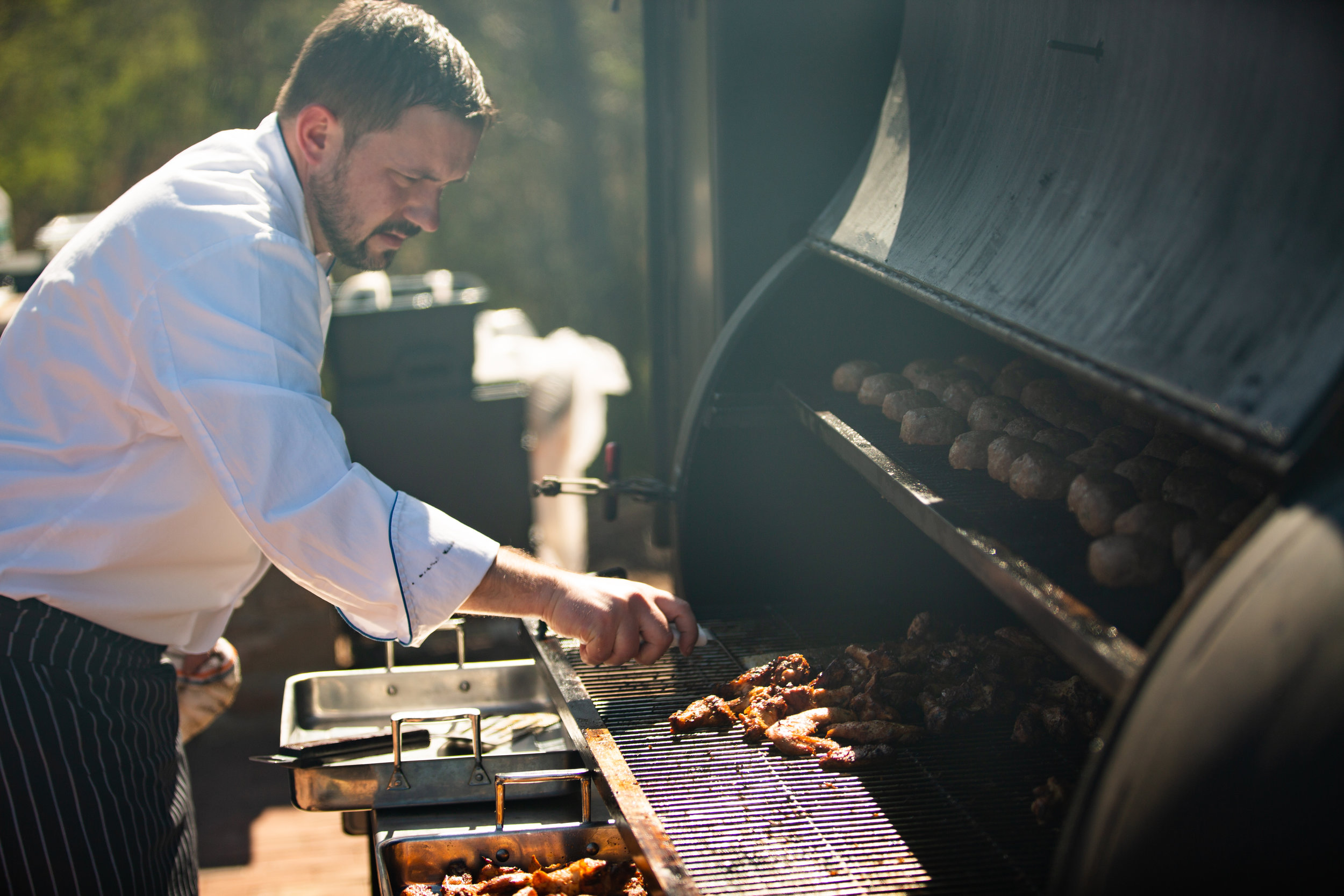 Chef Salvatore Riccobono - I come from a large family and have always been inspired by the joy of a great meal and celebrating life's moments with the people that I love.  I grew up and later started my career as a chef in the Princeton area.  After working in New York for many years I returned to Princeton to start my own family, and now a catering company.  I enjoy cultivating relationships with farmers and local businesses and showcasing their ingredients in my dishes.  I am passionate about honestly prepared food, outdoor cooking and bringing people together.