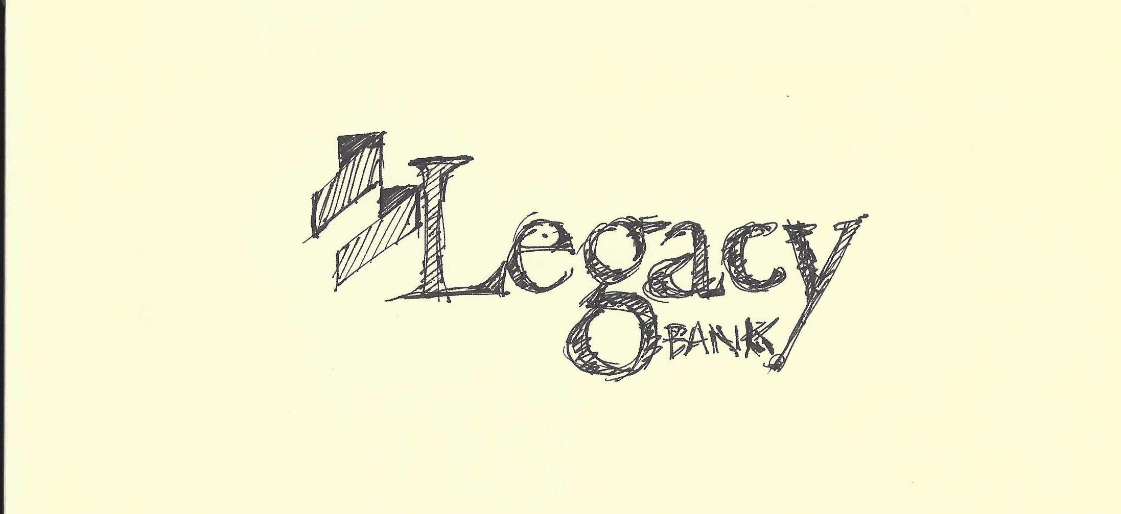 Legacy Bank initial brand sketches