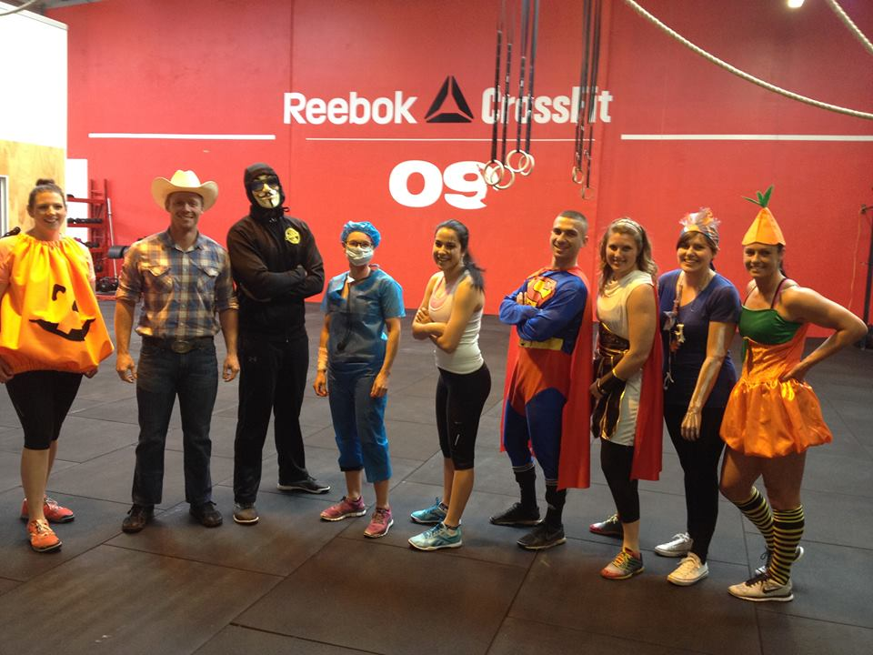 Yes we even make the most of Halloween!! Superman won the most 'workout friendly' outfit!