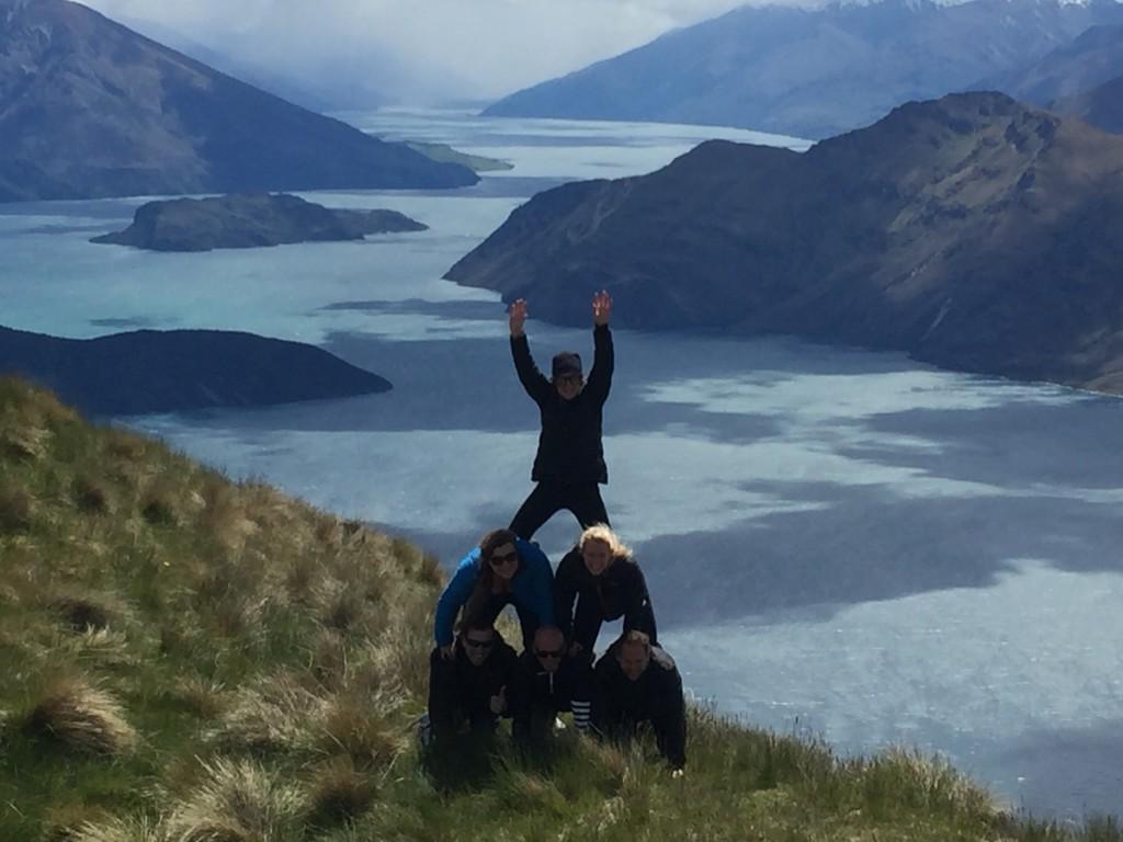 Carol on the peak of the pyramid, on the peak of the mountain, on the peak of life!