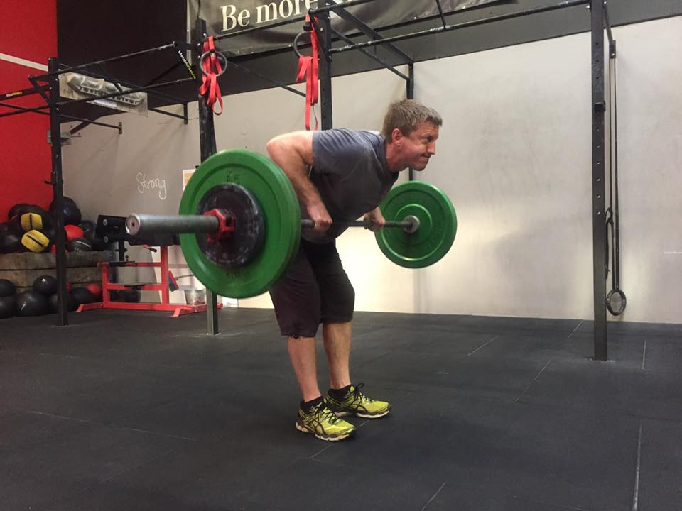 Did the bar touch your body on bent rows today? Or just come close?