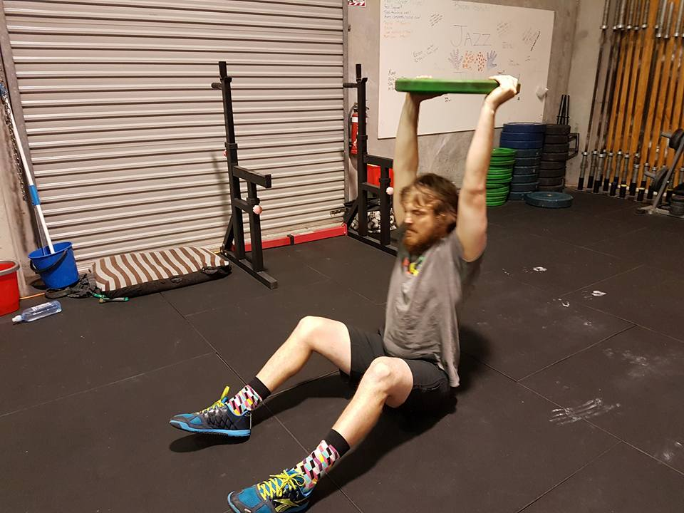 Nick is showing some great overhead mobility here!