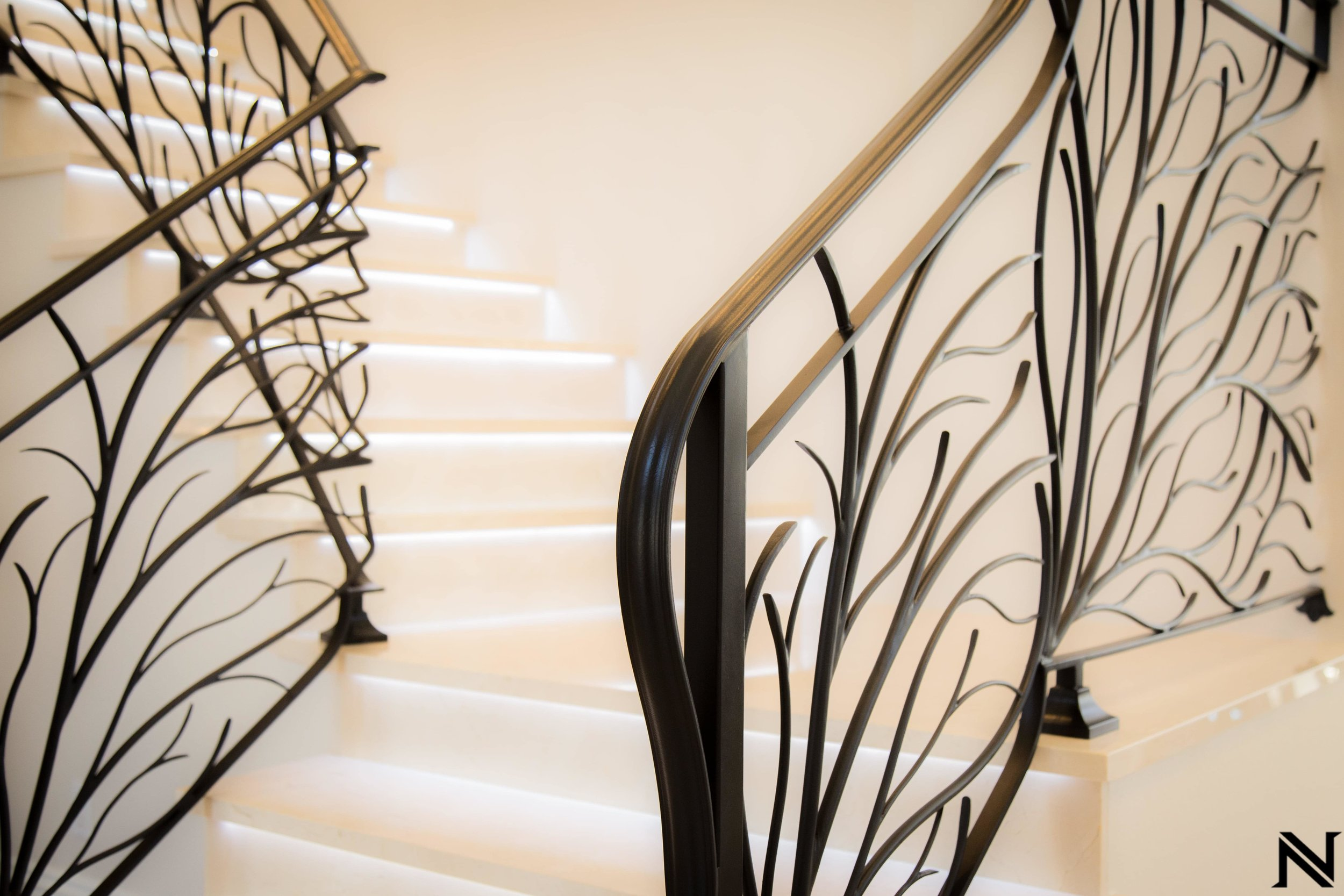 Naddour's Custom Metalworks Modern Staircase Railing Featured Project 3.jpg