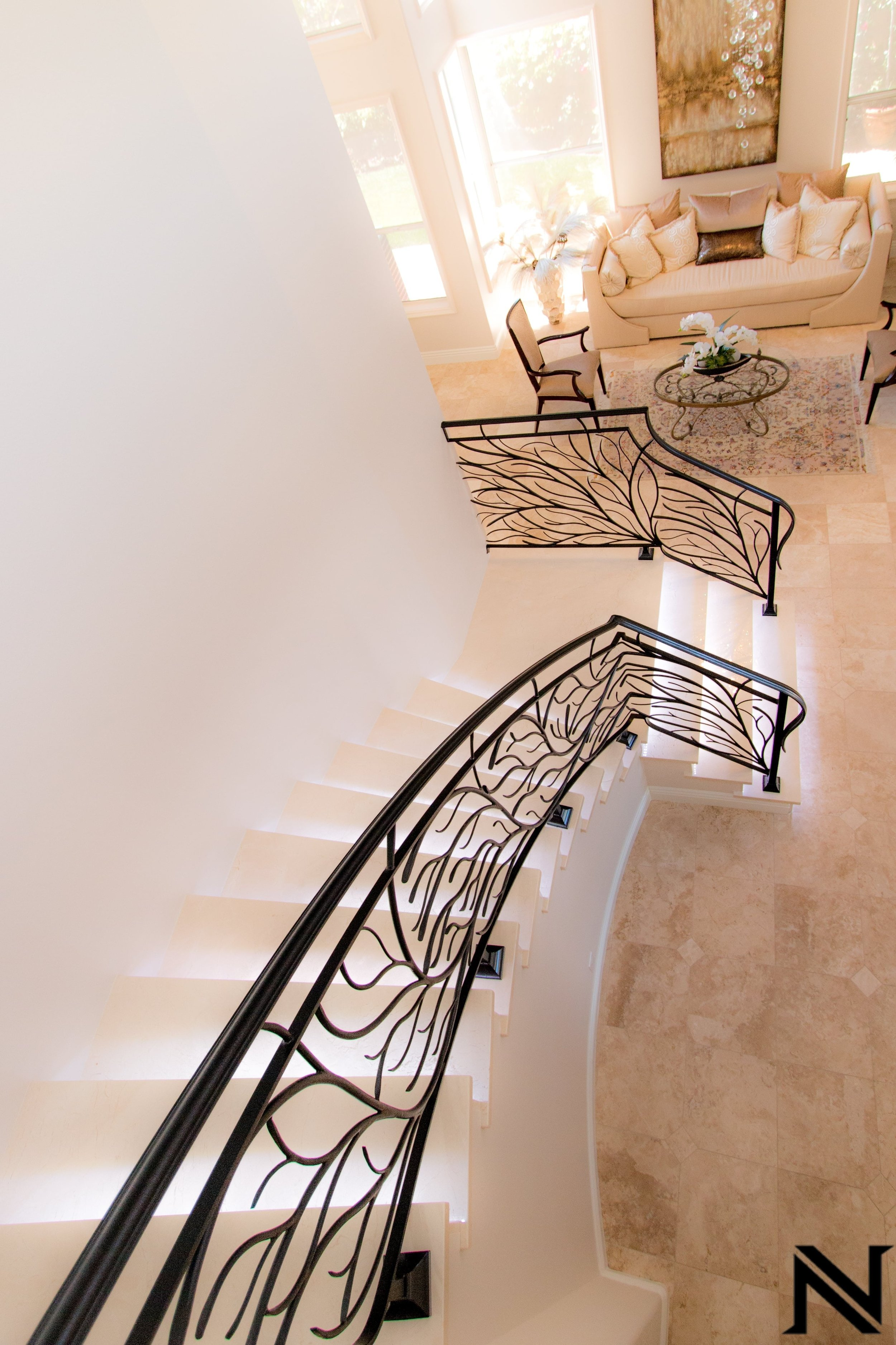 Naddour's Custom Metalworks Modern Staircase Railing Featured Project 1.jpg