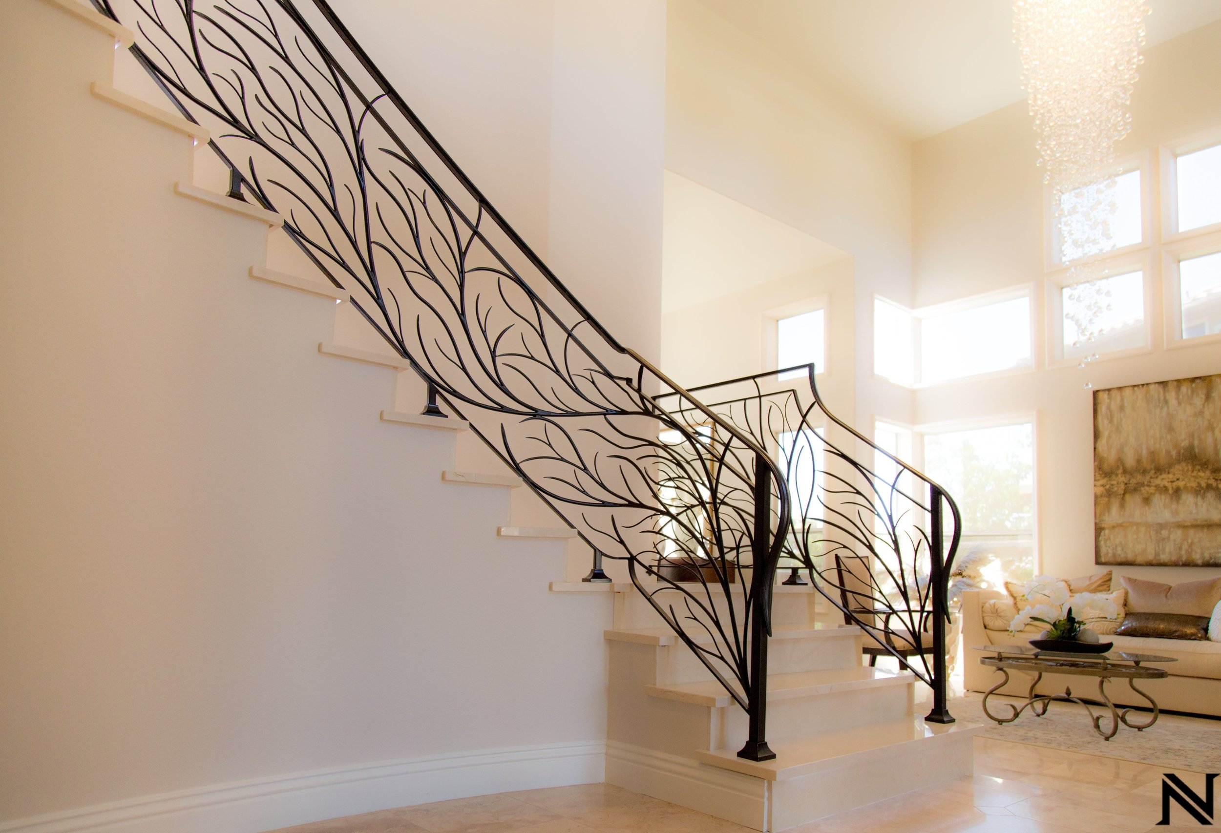 Naddour's Custom Metalworks Modern Staircase Railing Featured Project 2.jpg