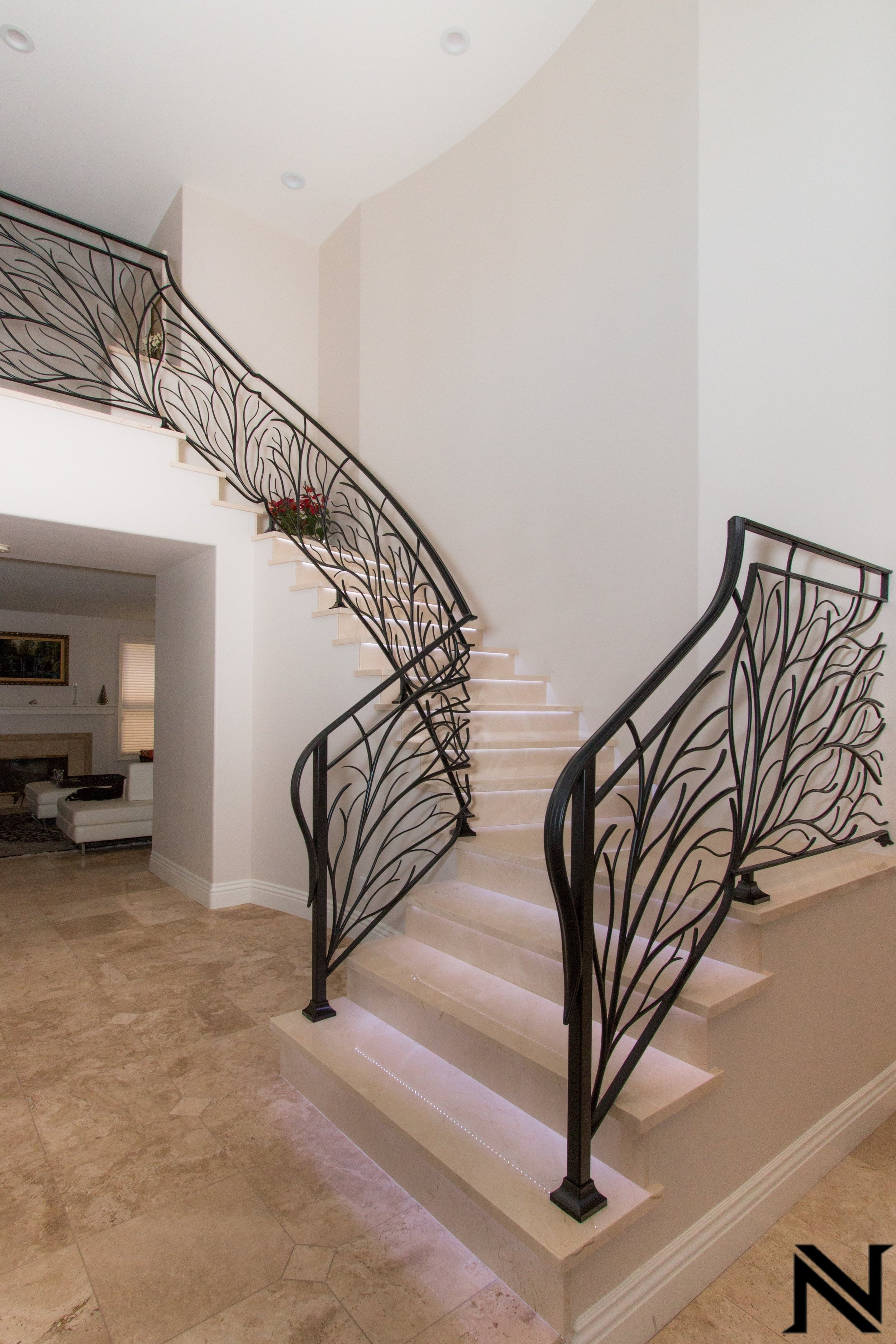 Naddour's Custom Metalworks Modern Staircase Railing Featured Project 4.jpg