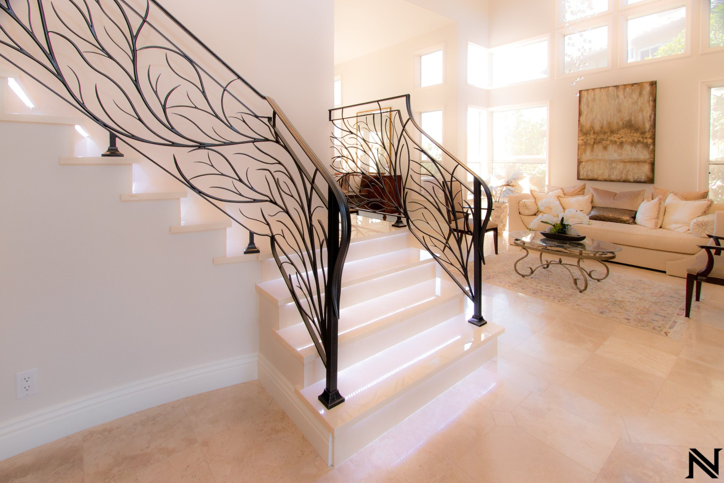 Naddour's Custom Metalworks Modern Staircase Railing Featured Project 5.jpg