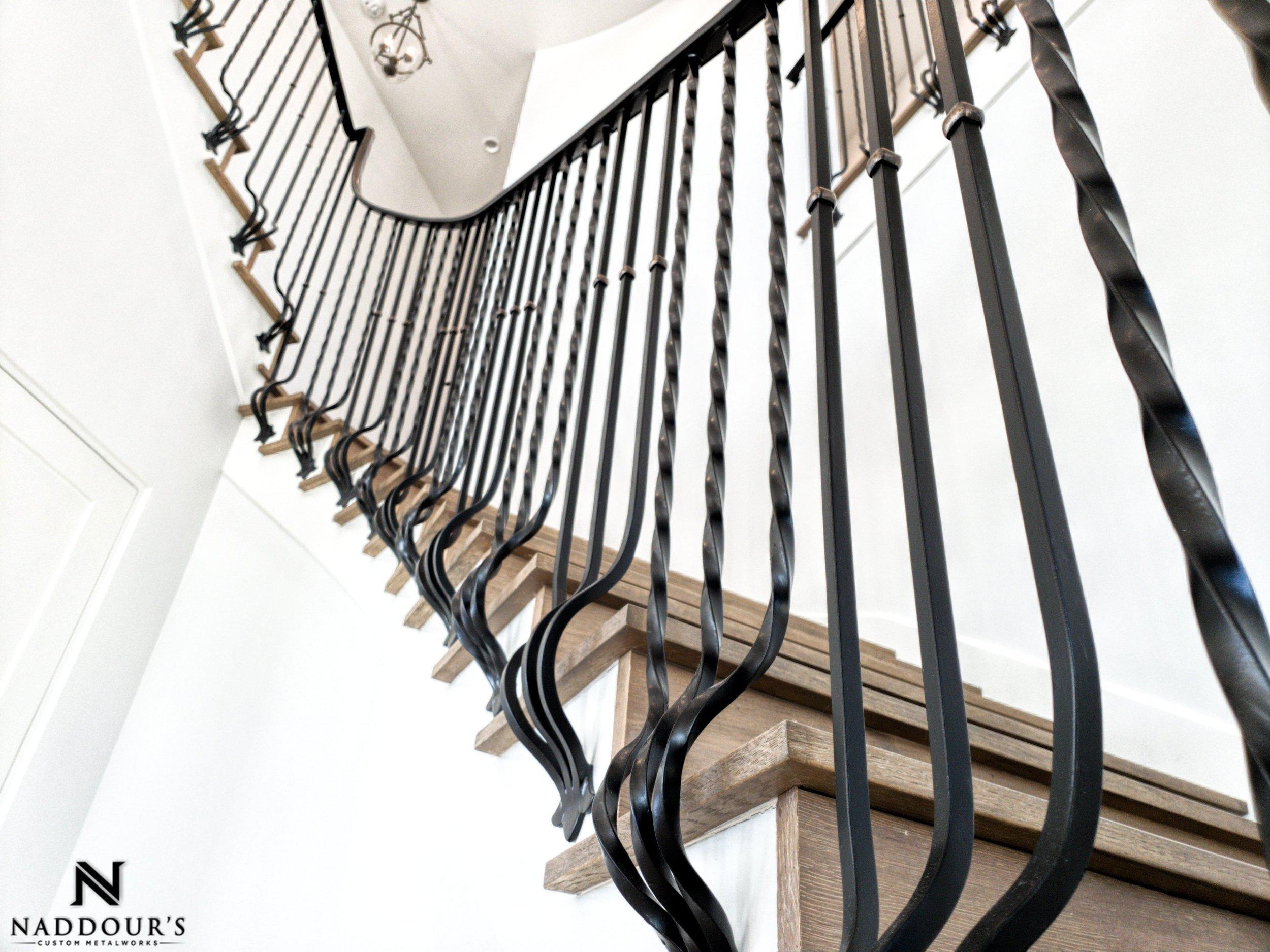 Naddour's Custom Metalworks Featured Project Dana Point California Custom Staircase Railing -min.jpeg