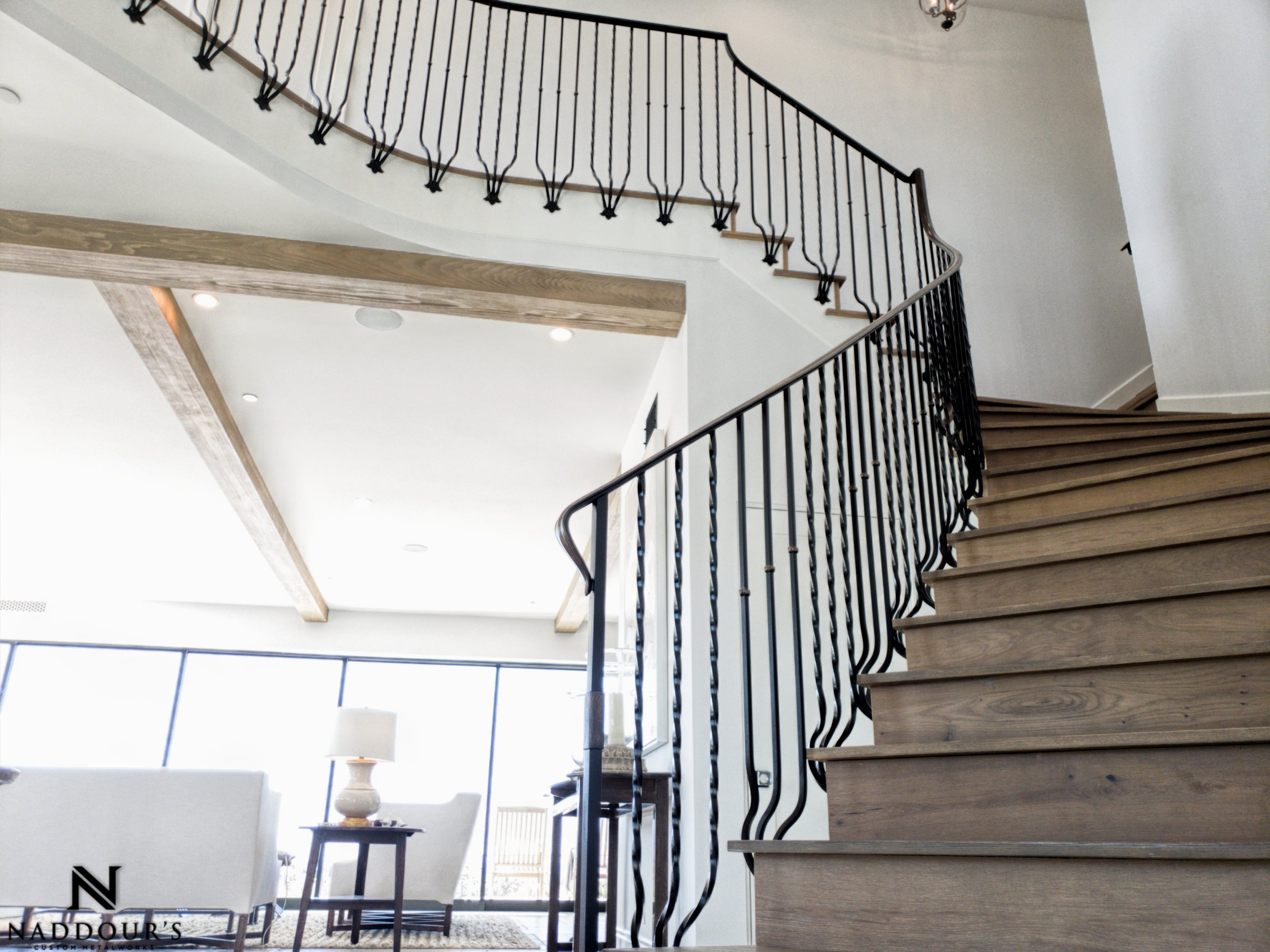 Naddour's Custom Metalworks Featured Project Dana Point California Custom Staircase Railing 2-min.jpeg