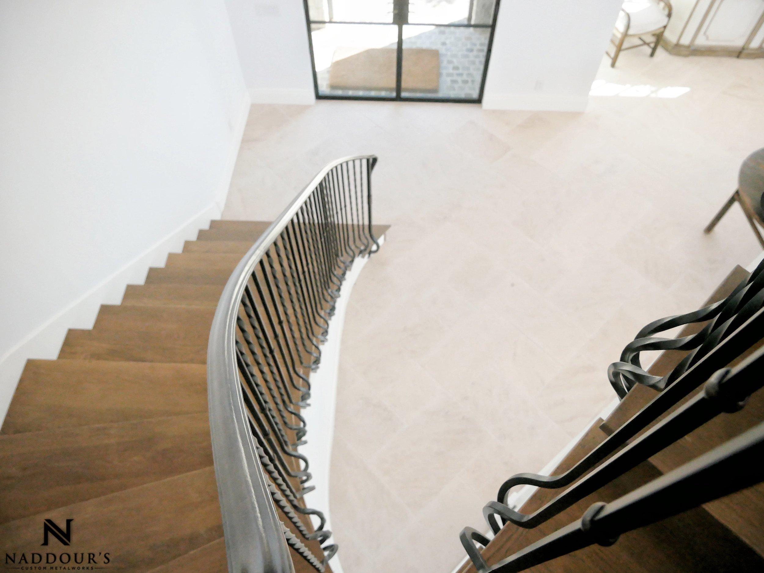 Naddour's Custom Metalworks Featured Project Dana Point California Custom Staircase Railing 4-min.jpeg