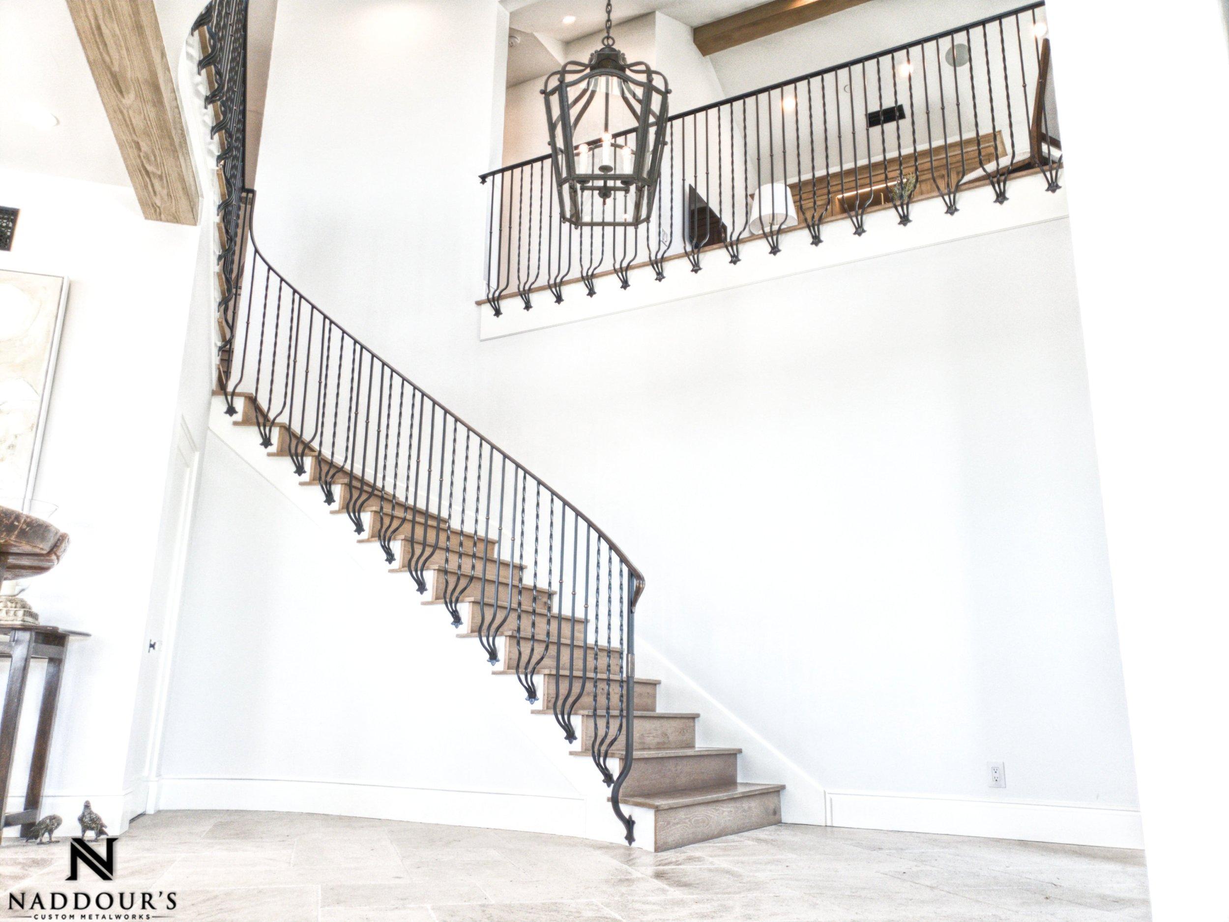 Naddour's Custom Metalworks Featured Project Dana Point California Custom Staircase Railing 7-min.jpeg