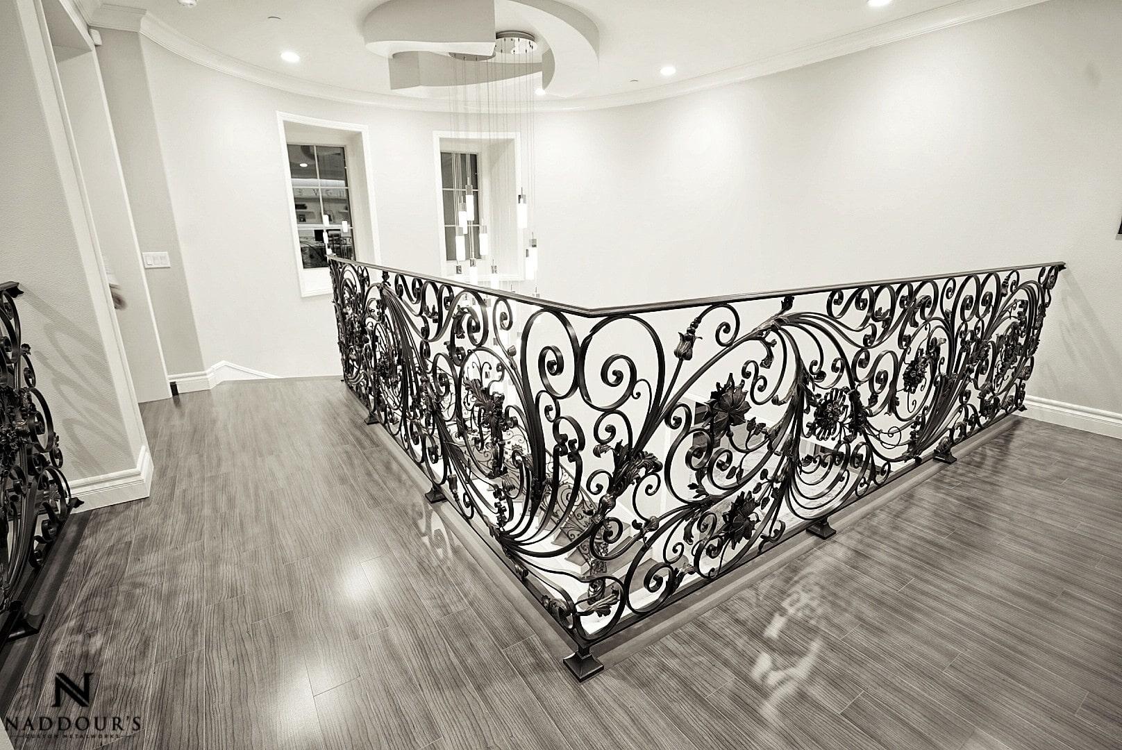 Naddour's Custom Metalworks Custom Staircase Railing Featured Project in Portola Hilla California .jpg 1.jpeg