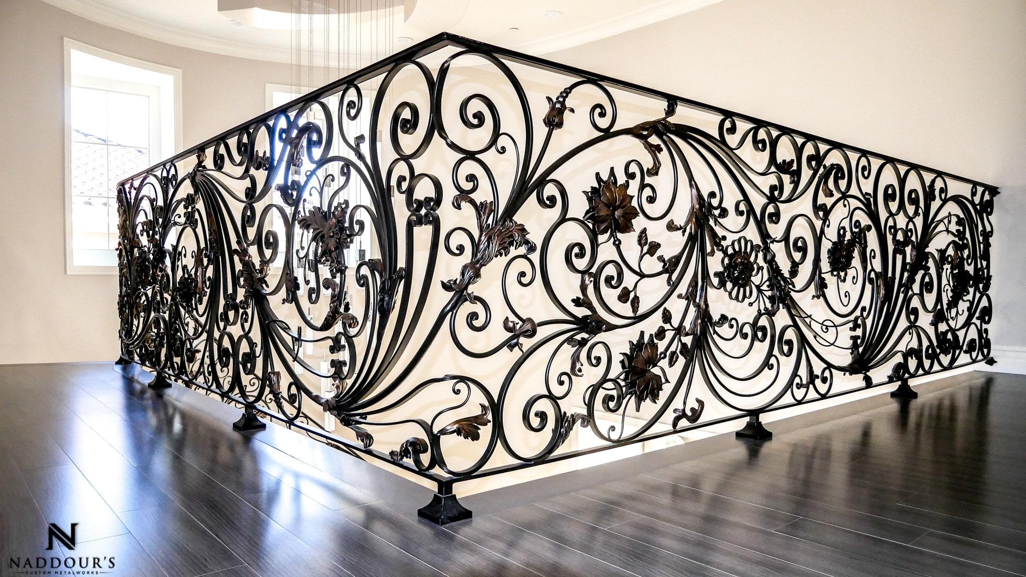 Naddour's Custom Metalworks Custom Staircase Railing Featured Project in Portola Hilla California .jpg