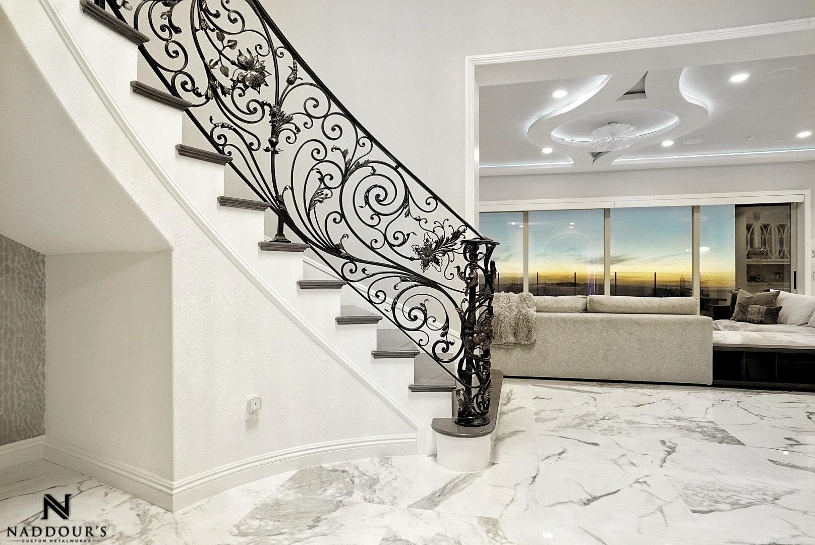 Naddour's Custom Metalworks Custom Staircase Railing Featured Project in Portola Hilla California .jpg 3.jpeg