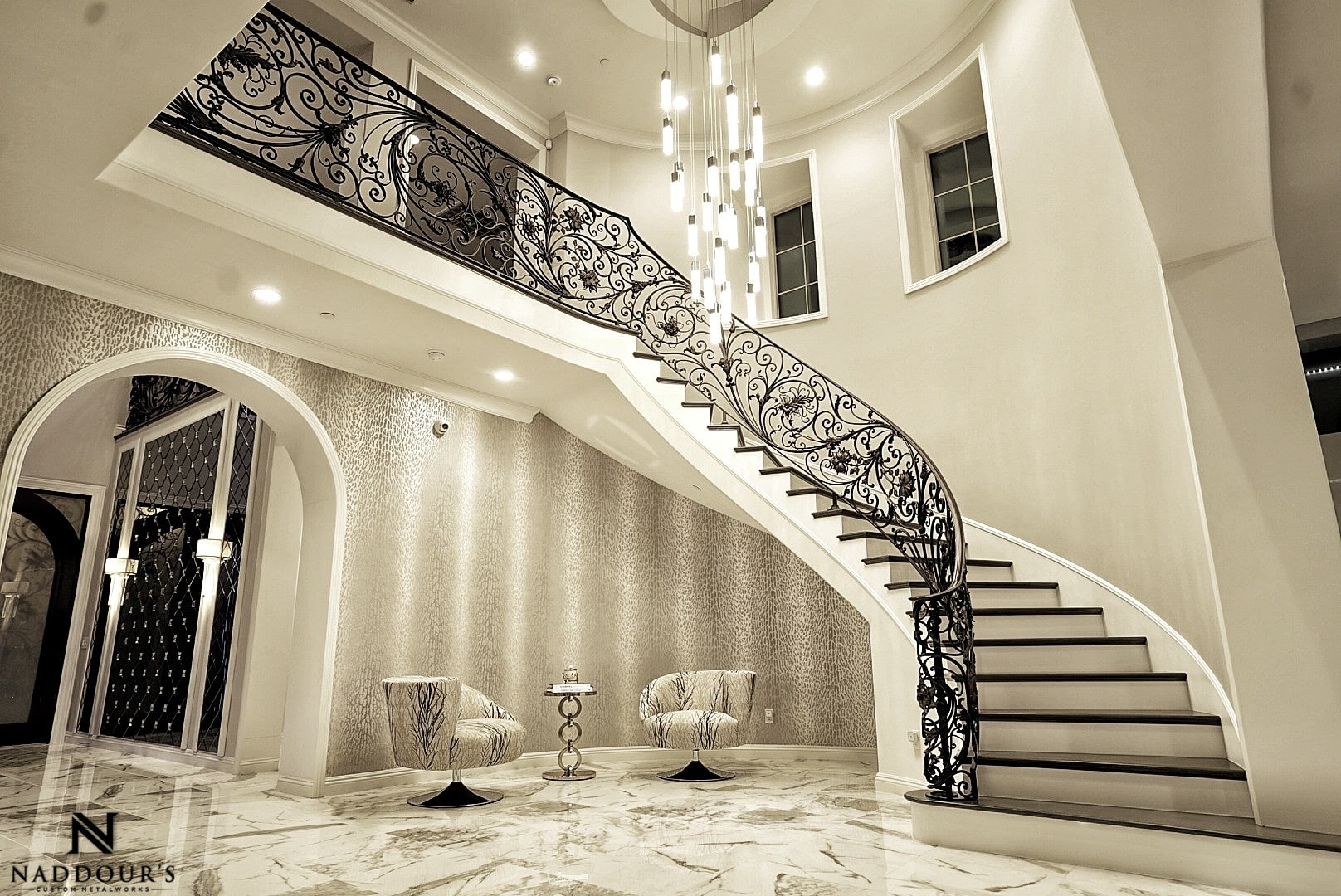 Naddour's Custom Metalworks Custom Staircase Railing Featured Project in Portola Hilla California .jpg 2.jpeg
