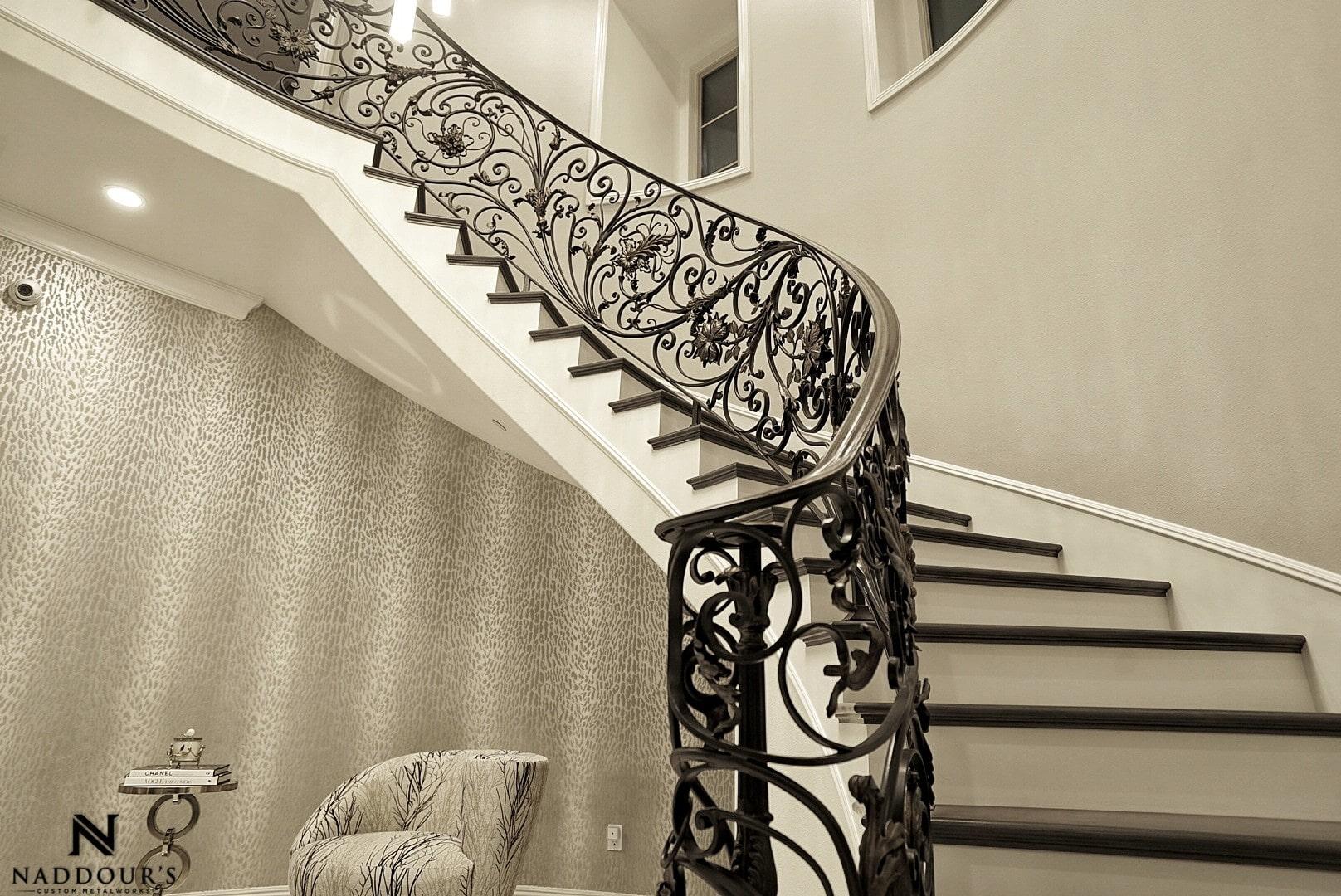 Naddour's Custom Metalworks Custom Staircase Railing Featured Project in Portola Hilla California .jpg 4.jpeg