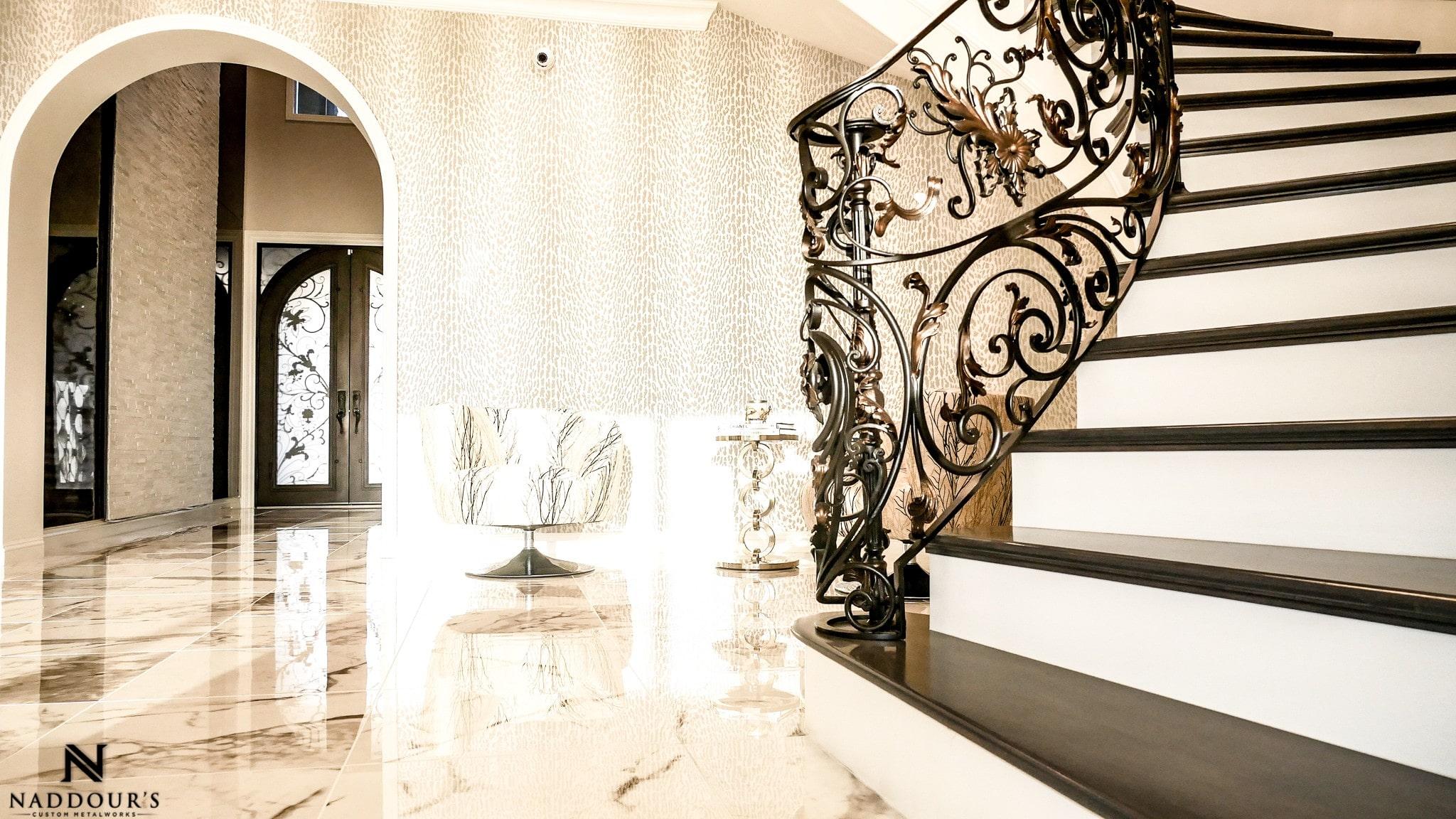 Naddour's Custom Metalworks Custom Staircase Railing Featured Project in Portola Hilla California .jpg 5.jpg