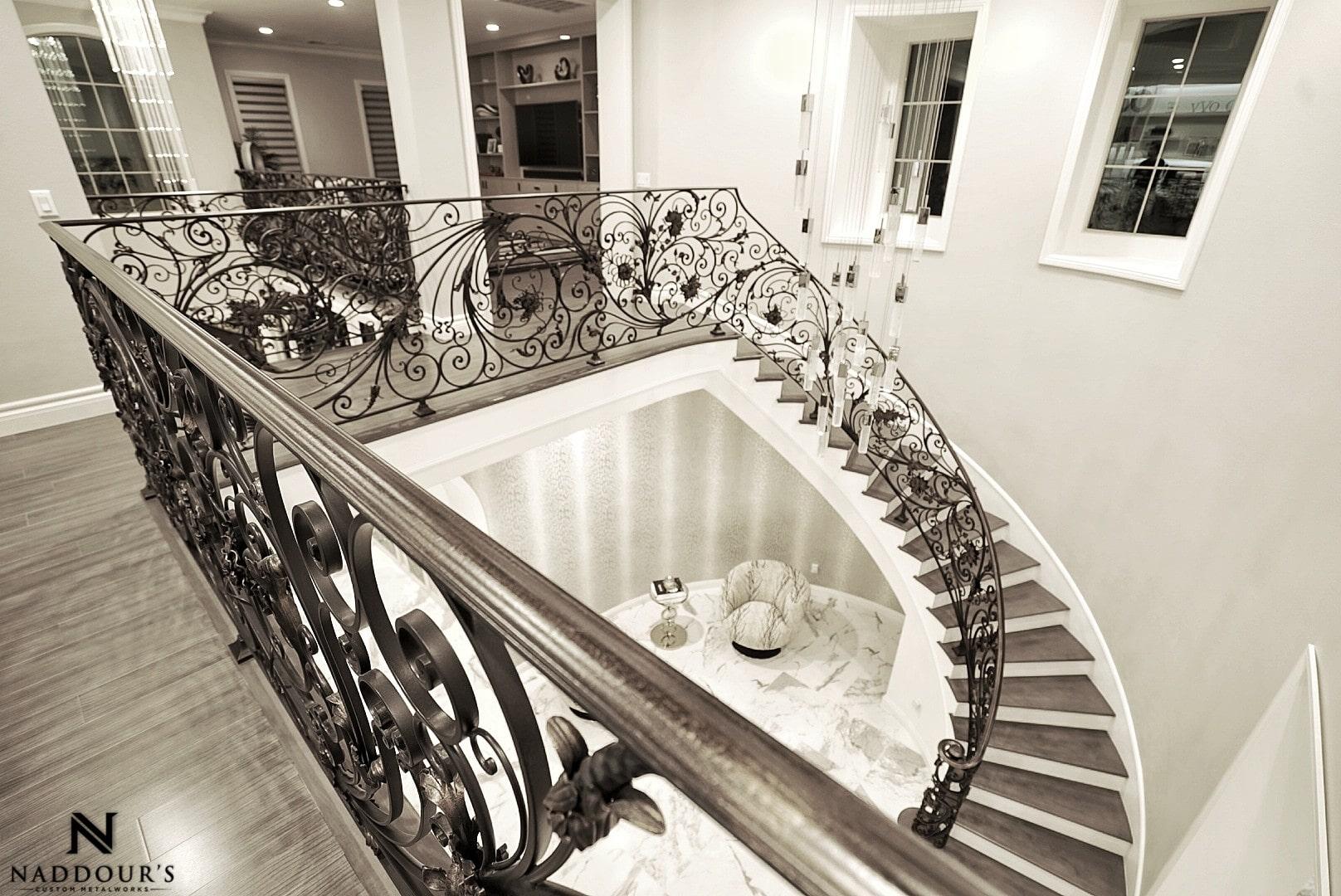 Naddour's Custom Metalworks Custom Staircase Railing Featured Project in Portola Hilla California .jpg 7.jpeg