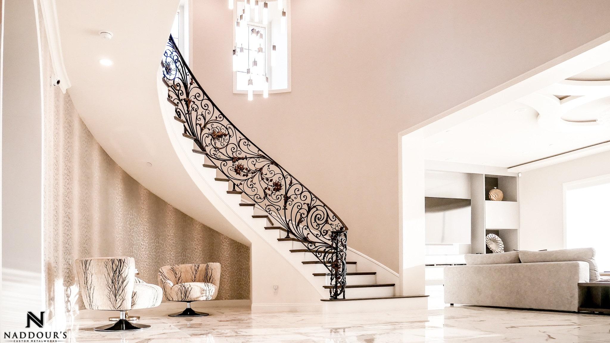 Naddour's Custom Metalworks Custom Staircase Railing Featured Project in Portola Hilla California .jpg 8.jpg