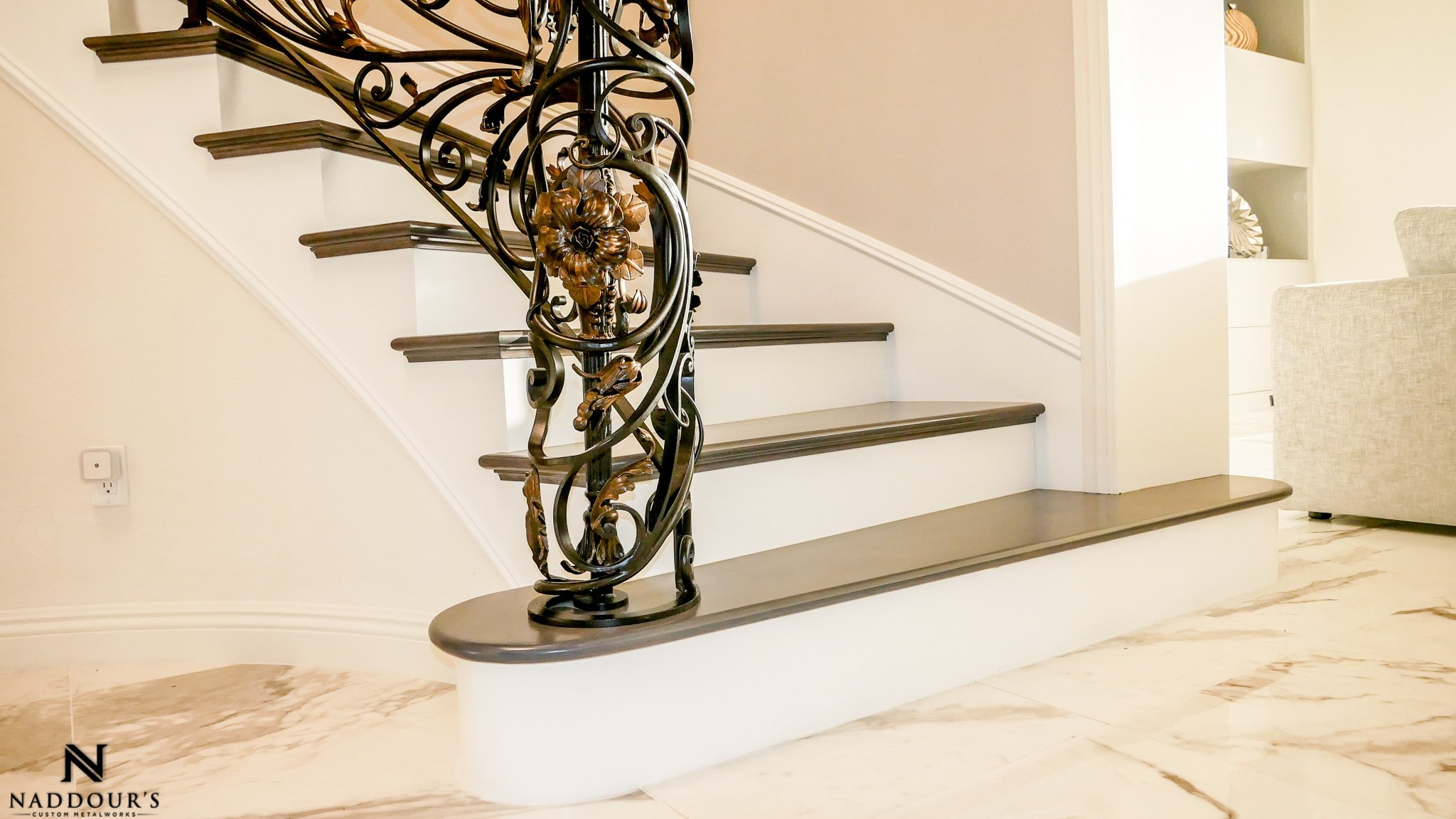 Naddour's Custom Metalworks Custom Staircase Railing Featured Project in Portola Hilla California .jpg 9.jpg