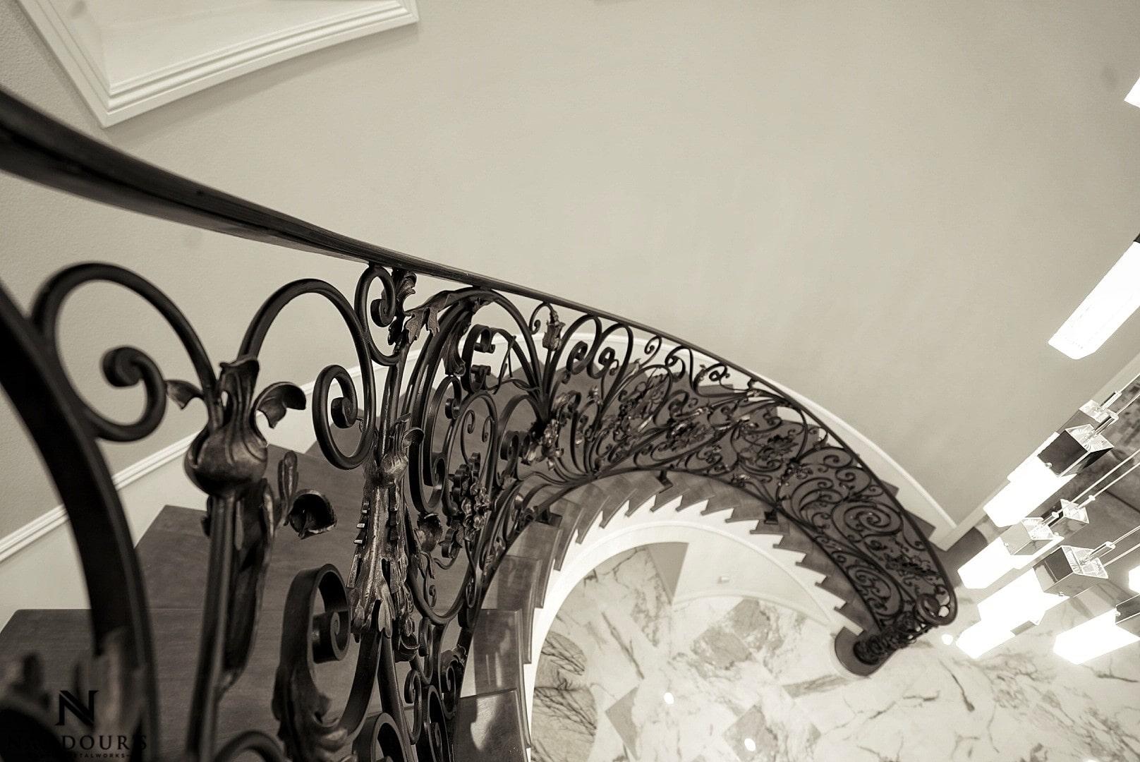 Naddour's Custom Metalworks Custom Staircase Railing Featured Project in Portola Hilla California .jpg 12.jpeg