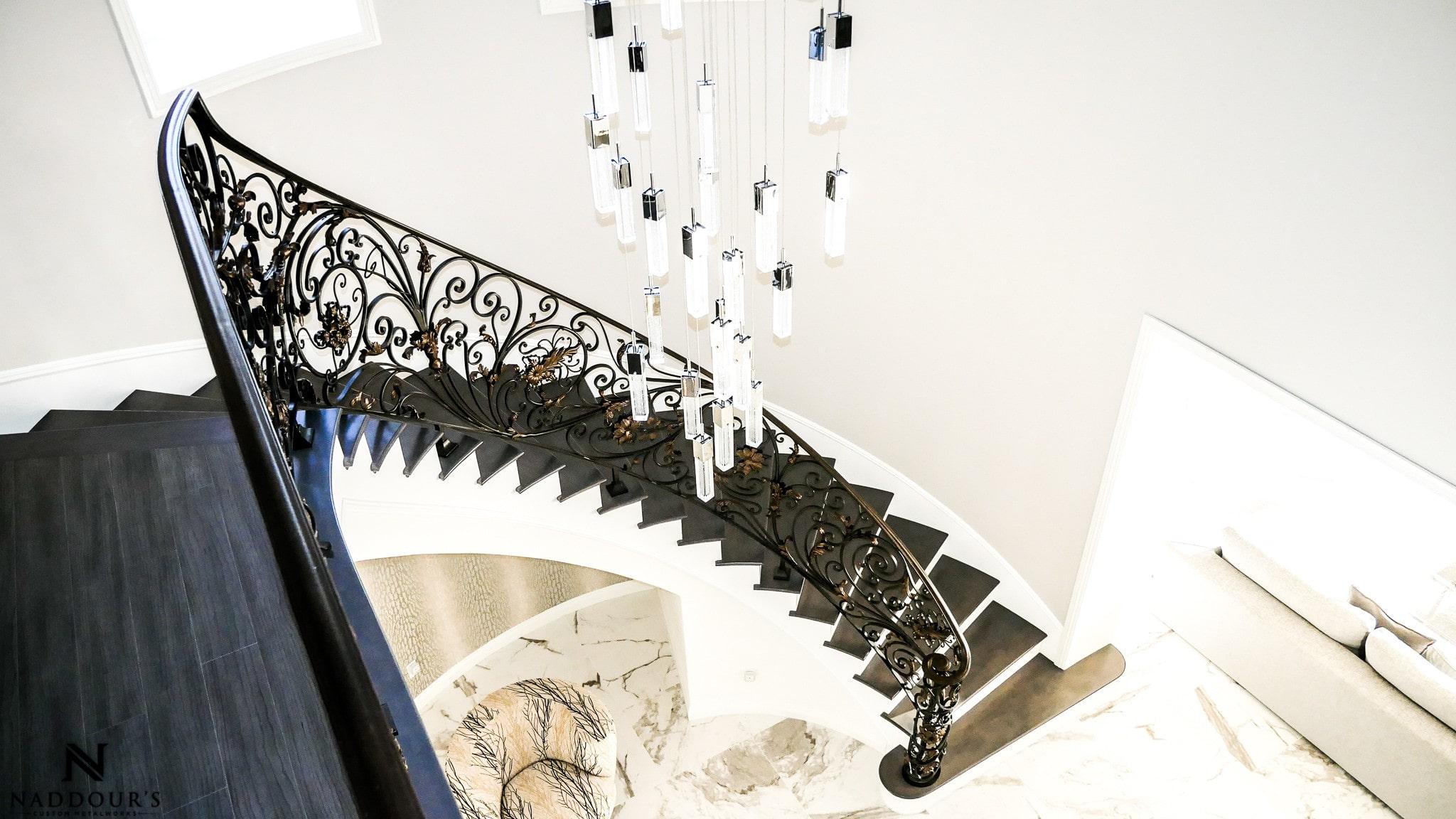 Naddour's Custom Metalworks Custom Staircase Railing Featured Project in Portola Hilla California .jpg 11.jpg