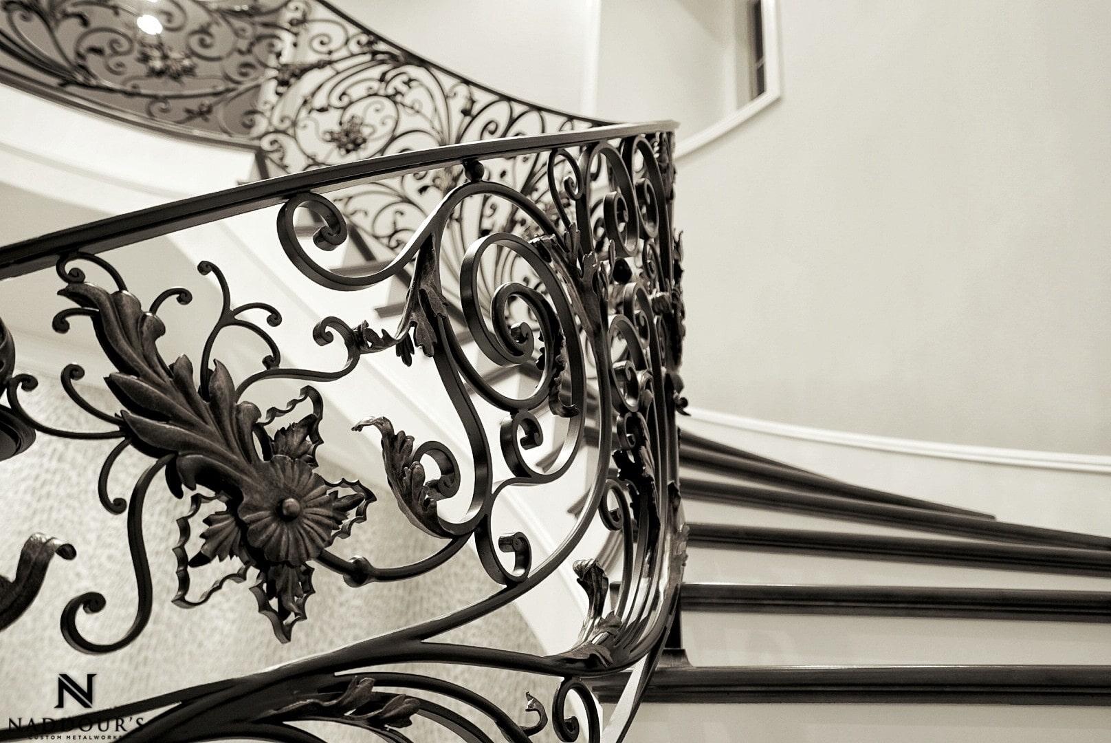 Naddour's Custom Metalworks Custom Staircase Railing Featured Project in Portola Hilla California .jpg 14.jpeg
