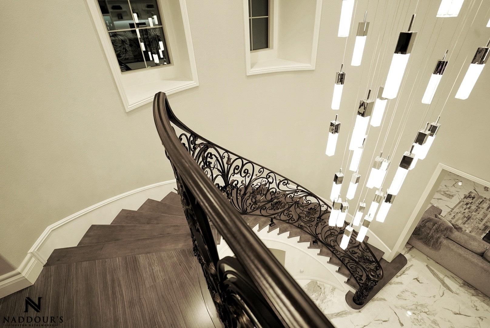 Naddour's Custom Metalworks Custom Staircase Railing Featured Project in Portola Hilla California .jpg 22.jpeg