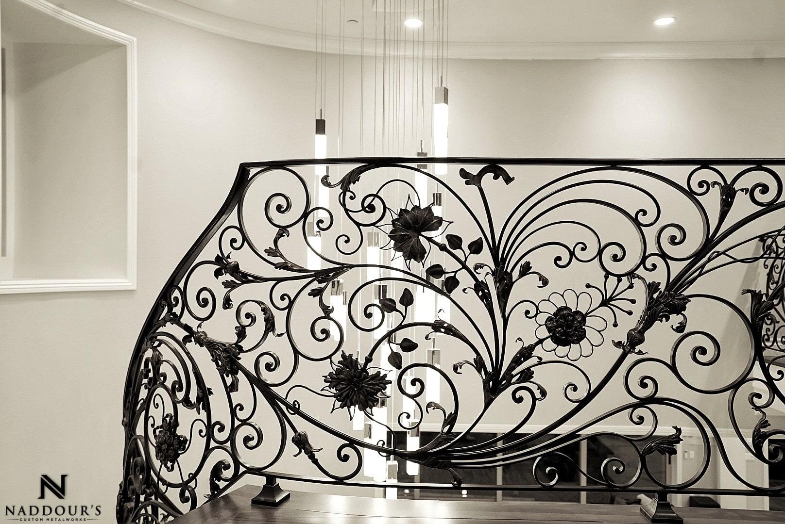 Naddour's Custom Metalworks Custom Staircase Railing Featured Project in Portola Hilla California .jpg13.jpeg
