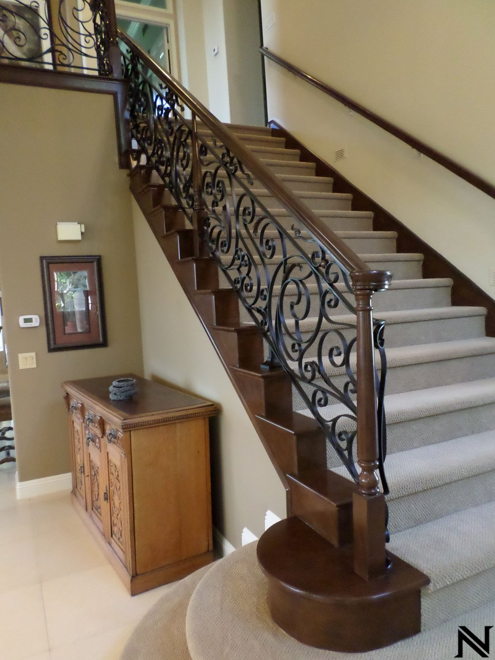 Wrought Iron Staircase Railing with Wooden AccentsStaircase Railings Design Ideas Naddour's Custom Metalworks