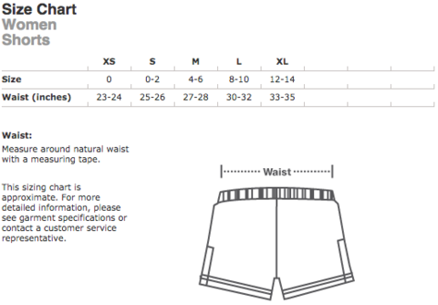 Size Chart - Women Shorts.png