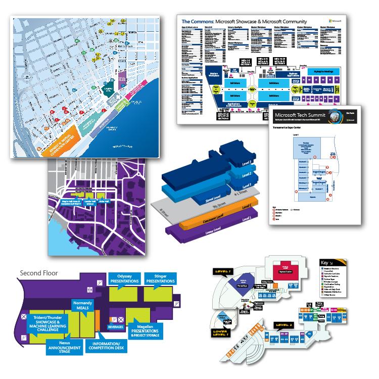 Area maps & venue floor plans