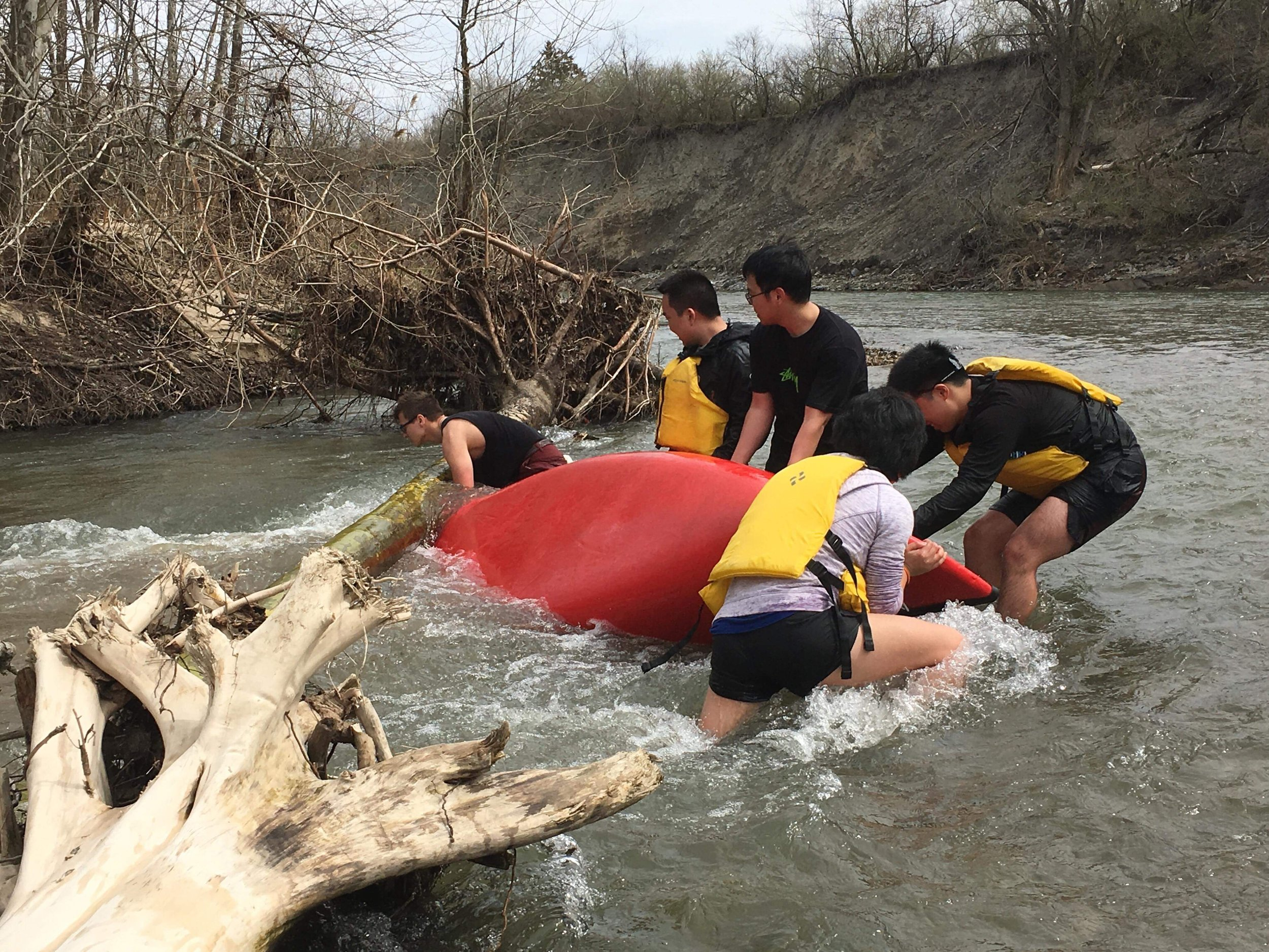 Some more hero action as Yaros, Jimmy, Andrew, Jerry, and Iris attempted to rescue a capsized canoe
