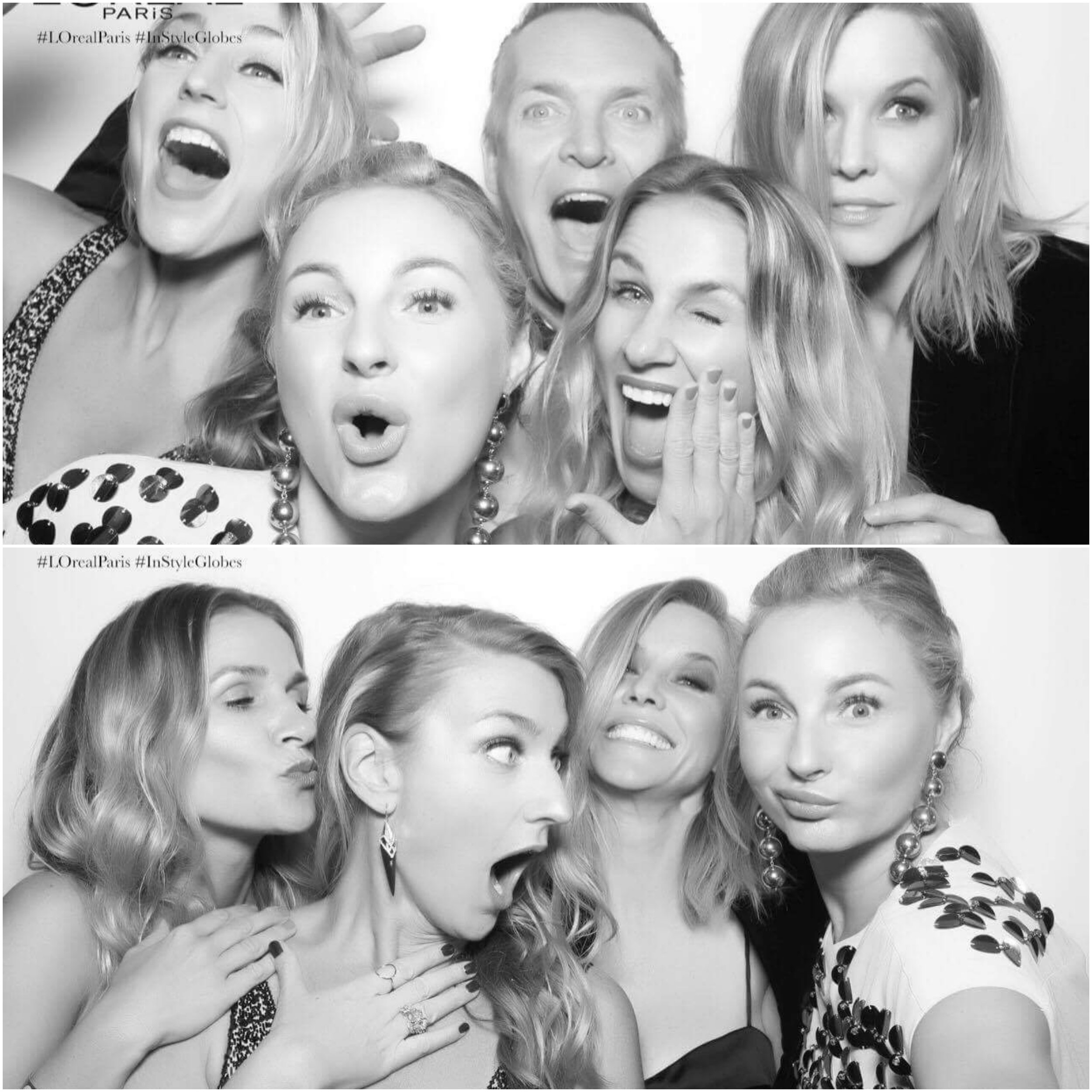 Having fun in the InStyle Party's photo booth!
