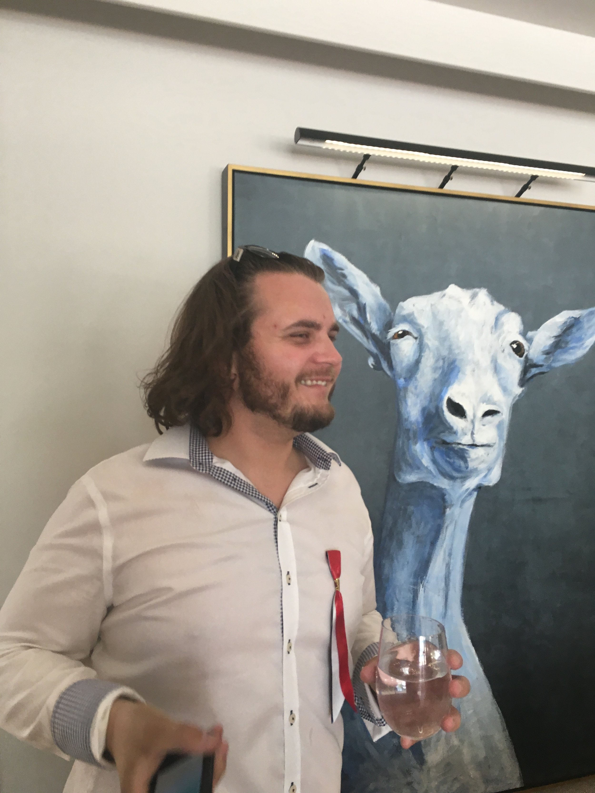 Two good friends - Bear Alex & Goat
