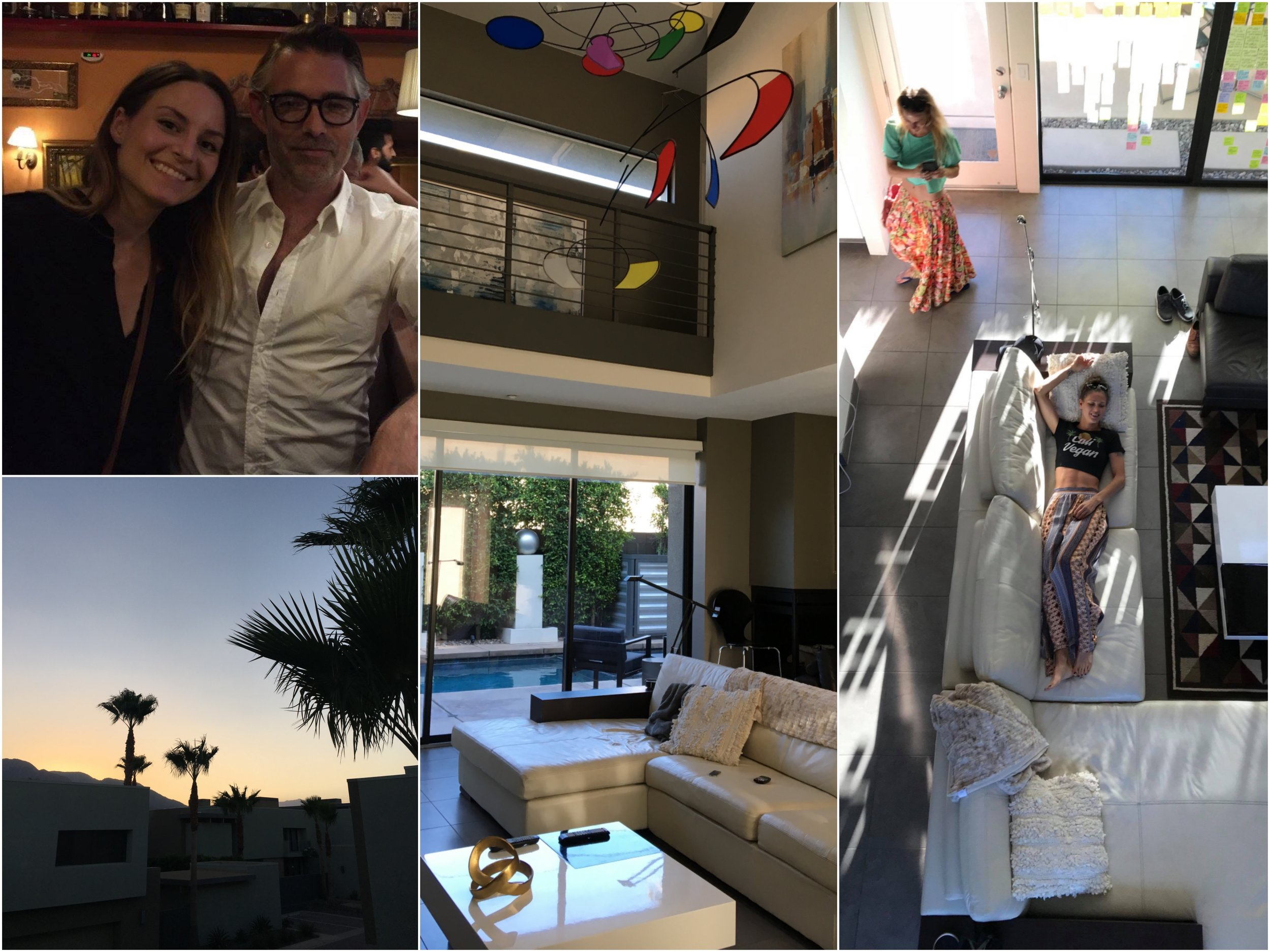 Erin & Alex (top left) invited us to their Palm Springs hideaway  <3