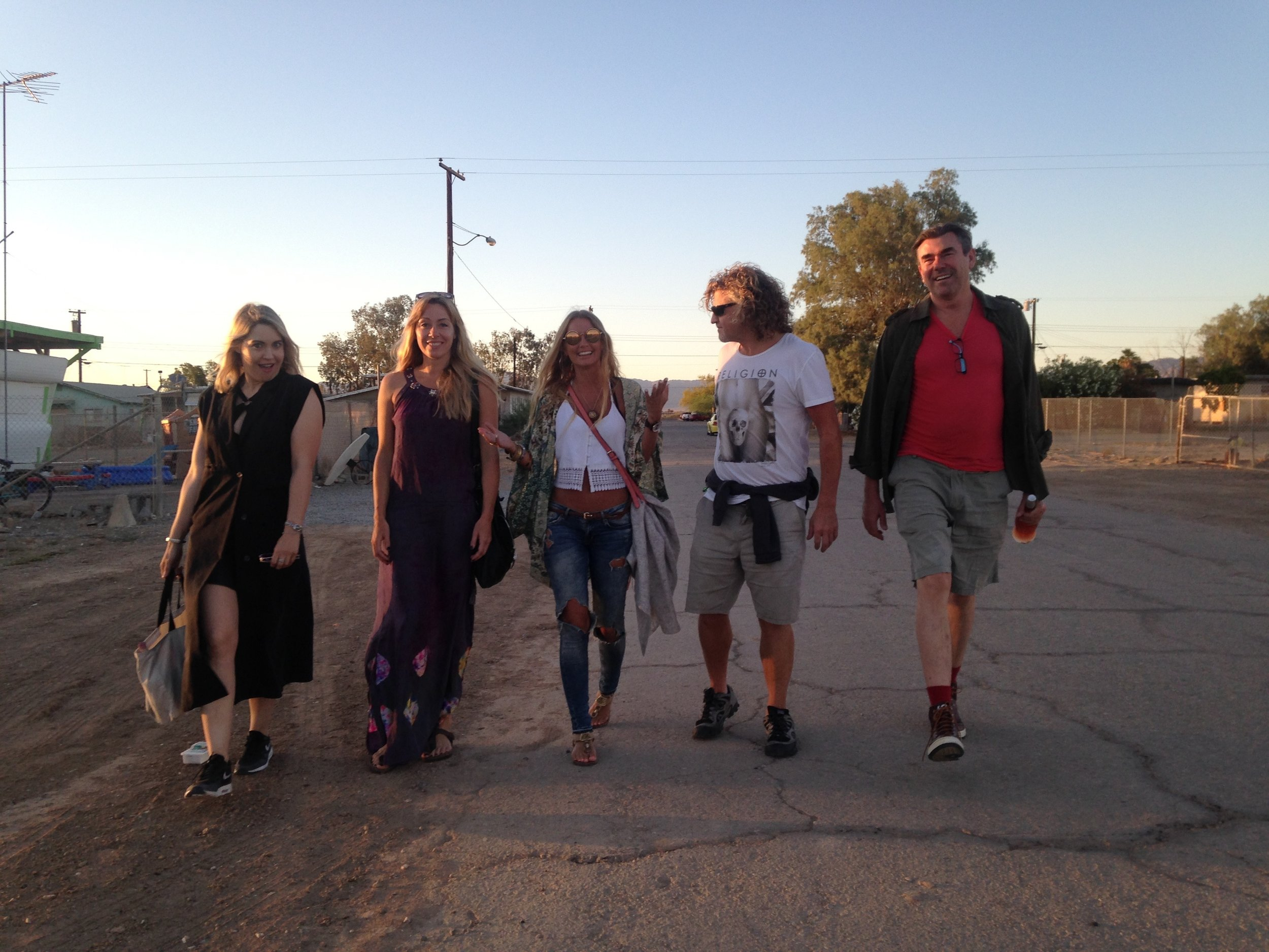On our way to the Bombay Beach Party